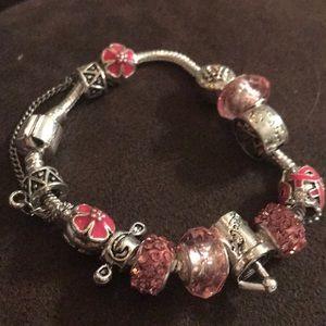 Gorgeous pink charm bracelet
